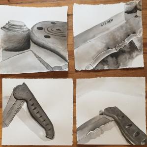 10x10 Ink Drawings